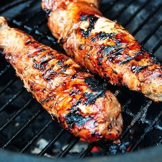 BBQ Pork Tenderloin made with a signature, zesty pork marinade. This recipe is delicious for both grilled pork tenderloin and baked too! A crowd favorite! Grilling Recipes, Pork Recipes, Cooking Recipes, Oven Recipes, Carne Asada, Bbq Pork Tenderloin, Pork Tenderloins, Pork Roast, Pork Marinade