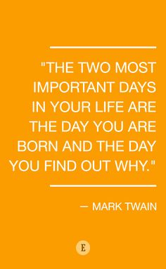 Find your passion and run with it. Quote by Mark Twain.