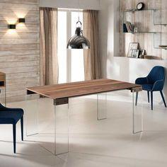 Esszimmertisch Mit Nussbaum Furniert Glasbeinen Jetzt Bestellen Unter: ...