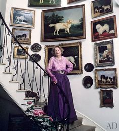 Brooke Astor in her Westchester Home, decorated in part by Albert ...