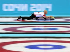 Sochi 2014 - Ryan Fry of Canada in Curling match against Germany during day 4 at Ice Cube Curling Center.