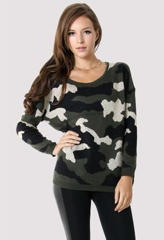 Military Camo Pattern Sweater - Sweaters - Tops - Retro, Indie and Unique Fashion