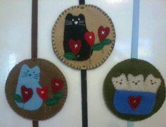 Marcadores de pagina gatos e corações