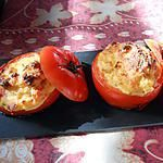 Recette de TOMATOES STUFFED WITH SCENTED POLENTA Polenta, French Food, Yummy Food, French Recipes, Stuffed Peppers, Vegetables, Fruit, Tomatoes, Cooking Recipes