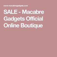 SALE - Macabre Gadgets Official Online Boutique Macabre, Online Boutiques, Gadgets, Jewelry, Appliances, Jewellery Making, Jewerly, Jewelery, Jewels