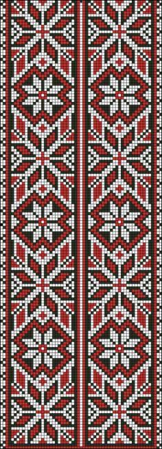 Beading _ Pattern - Motif / Earrings / Band ___ Square Sttich or Bead Loomwork ___ Beaded Cross Stitch, Cross Stitch Borders, Cross Stitch Charts, Cross Stitch Designs, Cross Stitching, Cross Stitch Embroidery, Cross Stitch Patterns, Modern Embroidery, Embroidery Patterns