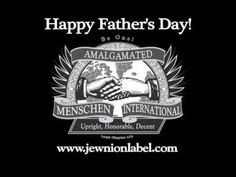 Happy Father's Day from Jewnion Label! Are you a mensch? Jewish humor.