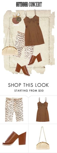 """""""Brown & Cream"""" by metter1 ❤ liked on Polyvore featuring Blumarine, Maria Bianca Nero, Robert Clergerie, Judith Leiber, Marni, 60secondstyle and outdoorconcerts"""