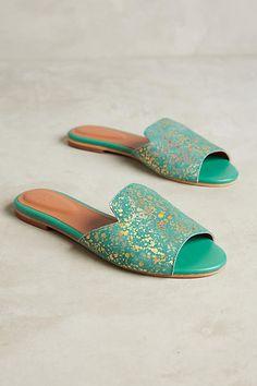 Jasper & Jeera Gilded Slide Sandals, affiliate link