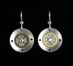 Brass & Aluminum earrings.  So neat!    Etsy listing at http://www.etsy.com