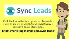 SyncLeads Review - https://www.youtube.com/watch?v=vC9-OmzMNK8  Occasionally folks will begin an internet business which does not have any business foundation whatsoever.  Should you do not need an instruction running a business, then you'd be quite wise indeed to talk with those people who are well versed in company.  An internet business of any sort is a company. It should be run just like a company also it has to be build upon sound business practices.