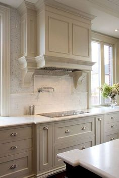 Refacing Kitchen Cabinets, Kitchen Cabinet Colors, Painting Kitchen Cabinets, Kitchen Colors, Kitchen Countertops, Kitchen Ideas, Cabinet Refacing, Gray Cabinets, Island Kitchen