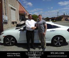 Congratulations Brandon on your #Honda #Civic Sedan from J.C. Hernandez at Lonestar Motorcars!  https://deliverymaxx.com/DealerReviews.aspx?DealerCode=O101  #LonestarMotorcars