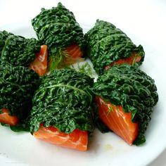 Baked Salmon Kale