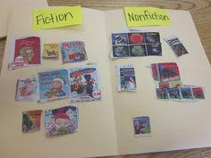 Use Scholastic magazines to sort fiction/nonfiction books.