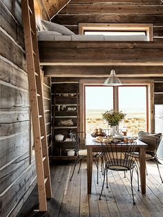 ⇒ Tiny House Decorating Tips. Inside a Rustic Idaho Cabin That'll Have You Dreaming of the West After falling hard for big skies and dramatic mountains, Robert Keith foun. Cabin Homes, Log Homes, Home Design, Interior Design, Casas Containers, Sweet Home, Little Cabin, Cabin Interiors, Cabins And Cottages