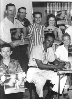 Chuck Berry with Fans, 1957