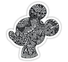 Mouse Zentangle Sticker
