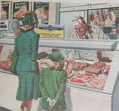 vintage shopping | vintage+housewife+grocery+shopping+at+the+butcher+shop.jpg
