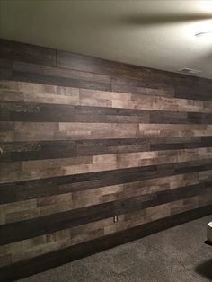 Boys room accent wall finished!!