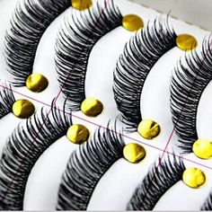 30 Pairs Cotton Stalk Black Eye Lashes Long Thick False Eyelashes Fake Eye Lashes Maquillaje Eyelash Extension Tool Maquiagem