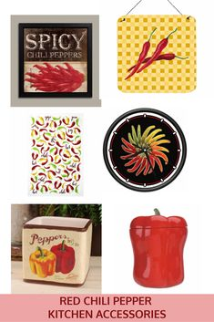 Red Chili Pepper Kitchen Accessories Decor Ideas