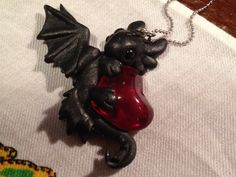 Toothless Heart Necklace 2 - How To Train Your Dragon. kr100.00, via Etsy.