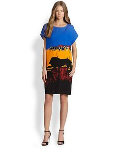 BRB, heading on safari in DVF's Harriet printed dress!
