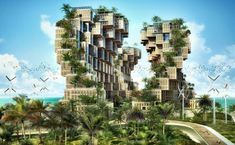 """If you're our loyal reader you should remember amazing eco concept of Vincent Callebaut – Lilypad. But Vincent continues to pump out amazing concepts of futuristic eco systems. This time inspired by the organic form of coral he has created utopian eco villages for for 1,000 Haitian families affected in 2010 by an earthquake measuring 7.0 on the Richter scale. This village is called """"Coral Reef"""". Built upon seismic piers off the coast of the mainland, the prefabricated,..."""