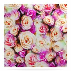 """East Urban Home 'Sweet Pastel Pink Rose Flowers' Graphic Art Print on Metal Size: 8"""" H x 8"""" W x 1"""" D"""