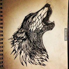 Wolf tattoo concept