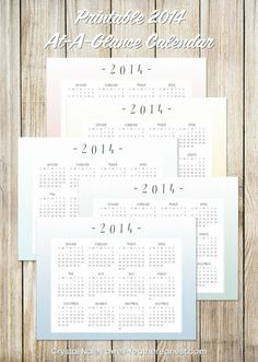 A Well-Feathered Nest: FREE 2014 Calendar and a planner SALE
