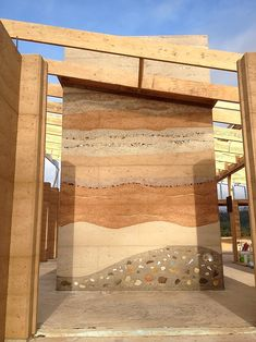 rammed earth homes in quebec Rammed Earth Homes, Rammed Earth Wall, Architecture Design, Sustainable Architecture, Pavilion Architecture, Residential Architecture, Contemporary Architecture, Earthship, Natural Building