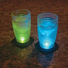 Light up coasters color your water