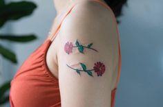 Flower scar cover.