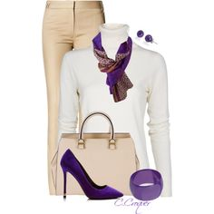 Minimal With Purple Shoes by ccroquer on Polyvore featuring MANGO, Nicholas Kirkwood, Victoria Beckham, Miss Selfridge and Bling Jewelry