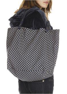 Cabas en coton motif géométrique Bleu by PETITE MENDIGOTE Tote Bag, Fashion, Fall Winter, Pattern, Blue, Woman, Moda, Fashion Styles
