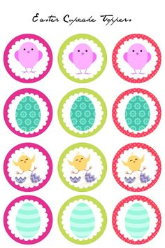 Easter Cupcake Toppers - Free Printables