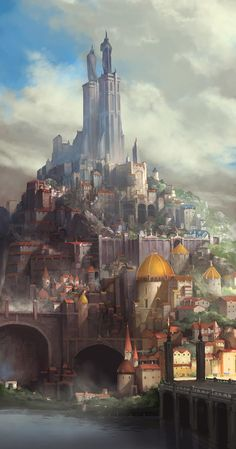 Ideas for medieval concept art cities deviantart Fantasy City, Fantasy Castle, Fantasy Places, Fantasy Map, Fantasy Kunst, Medieval Fantasy, Fantasy World, Final Fantasy, Fantasy Island