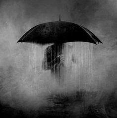 rain, umbrella, and black and white Rain Umbrella, Under My Umbrella, Walking In The Rain, Singing In The Rain, Its Raining Its Pouring, Love Rain, Usa Tumblr, Rainy Days, White Photography