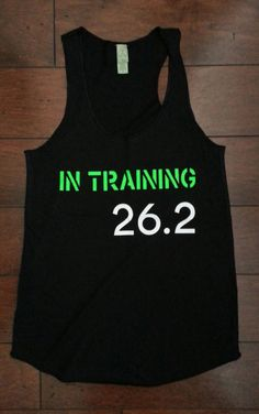 In Training 26.2 by LoveStrongClothing on Etsy, $22.00