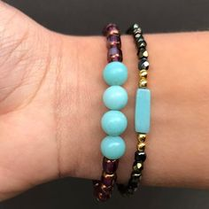 We love to pair our Energy bracelets (right) with our Minimalist ones (left). Both bracelets are from our 1001 nights collection. Stones ; Amazonite. Healing properties include; mind and body harmony, determination of your destiny, labor facilitation. 💠❤️ #handmade . . . . ________________________________ #handmadejewelery #jewelry #amazonite #semiprecious #healingcrystals #healing #healingstones #naturalstone #mala #destiny #labor #turquoise #bracelet #bracelets #intention #yogalover #yoga… Healing Stones, Crystal Healing, Photo Instagram, Instagram Posts, Gemstone Bracelets, Bracelet Designs, Natural Stones, Boho Chic, Photos