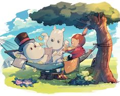 Moomin Wallpaper, Fairy Wallpaper, Little My Moomin, Peace Plant, Moomin Valley, Autumn Illustration, Cute Art Styles, Old Cartoons, Cat Dad