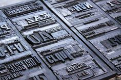 Cartões de visita tipográficos