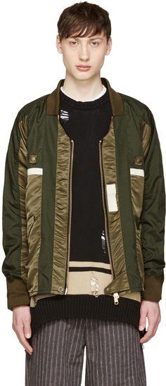 Blackmeans - Green Nylon Kimono Jacket