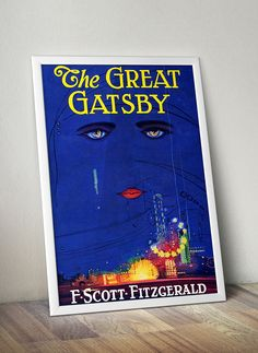 The Great Gatsby Poster Prints. Looking for some vintage class for your home? Shop our stunning collection of  hand edited wall decor - makes the perfect gift for book lovers and bookworms.