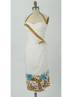 Alfred Shaheen Sarong Dress from the 1950s - available at www.bluevelvetvintage.com