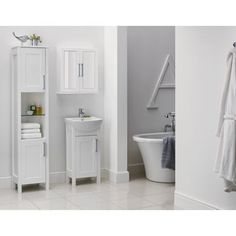 Winslow Tall Freestanding Unit - White
