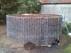 Biomeiler - Why not use Compost To Heat your home. Instead of burning wood for heat, some Europeans now build a compost pile over plastic water lines that extract heat from the decomposing plant material. Temperatures can get as high as 149 degrees. With a circulating pump as the only moving part, the compost heater lasts an average of 12 to 16 mos. – and occasionally up to 24 mos. – providing heat and up to 80 percent of the hot water for a 1,500 sq. ft. home.