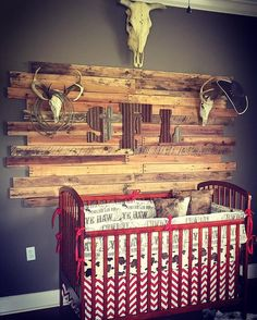 Ready to Ship Boy Crib Bedding - Brown Cowboy, Pony Minky, and Red Chevron, Cowboy Nursery Set Baby Boy Rooms, Baby Boy Nurseries, Baby Cribs, Country Baby Rooms, Modern Nurseries, Country Boy Nurseries, Kids Rooms, Crib Bedding Boy, Babies Rooms